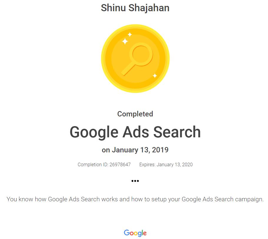 Shinu Google Ads Search